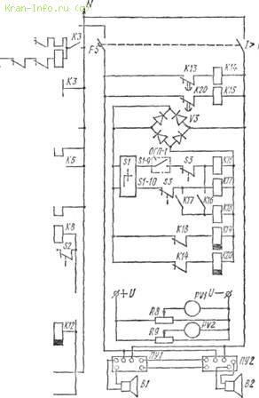 Эл схема управления башенных кранов Электрические схемы башенных кранов электрическая схема крана кб 674 управление...