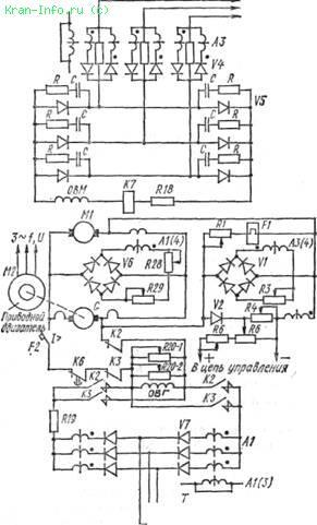 Электрическая схема станка для