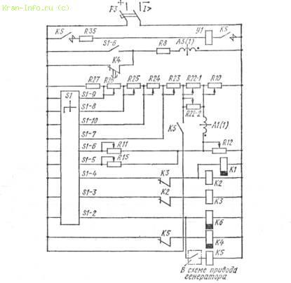 Электро-схема электрической лебедки.
